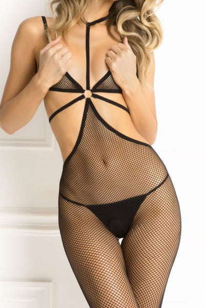 Spank Me Fishnet Harness Bodystocking