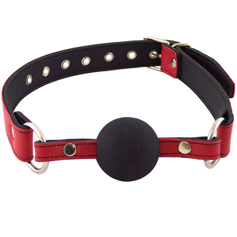 Luxury Leather Ball Gag - Red
