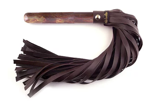 Marble Handle Leather Flogger