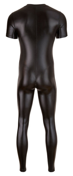 Men Shiny Wetlook Jumpsuit