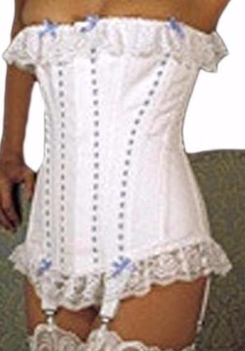 Moulin Rouge White contil Corset - She Said Boutique