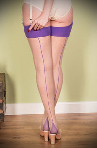 Purple and Nude Stockings