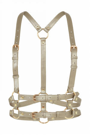 Chest Harness - Metalic Vegan Leather