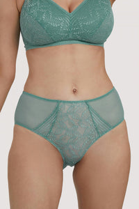 Emma Lace Sage Highwaist Briefs (8-20)