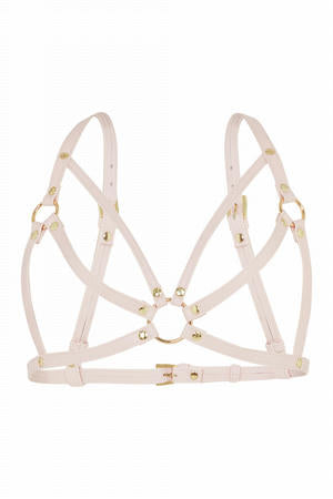 Caged Bra Harness - Red