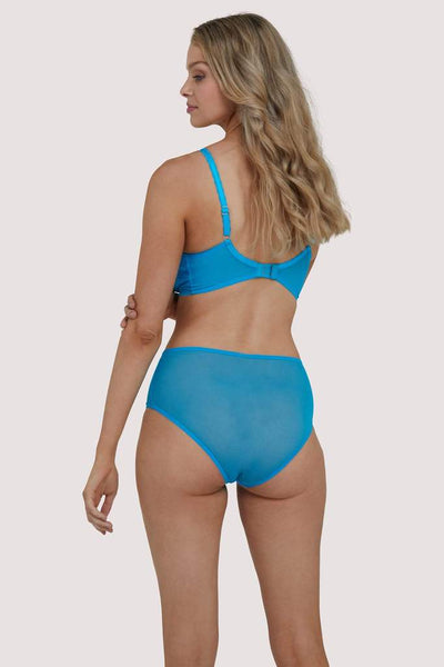Emma Lace Turquoise Highwaist Briefs (8-20)