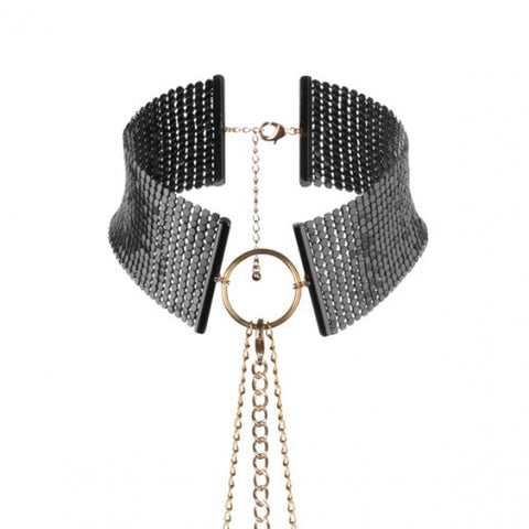 BIJOUX INDISCRETS BLACK METALLIC CHAIN CHOKER - She Said Boutique - 2