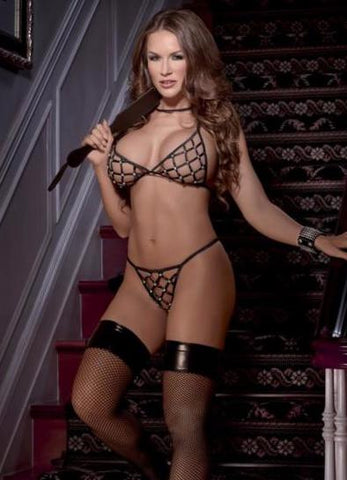 String and Studs Cadged Boudoir Set