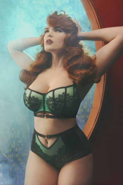 Emelda Jade & Lace Highwaist Knicker