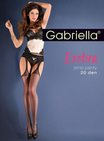 Gabriella Erotica - Black Suspender Sheer Tights