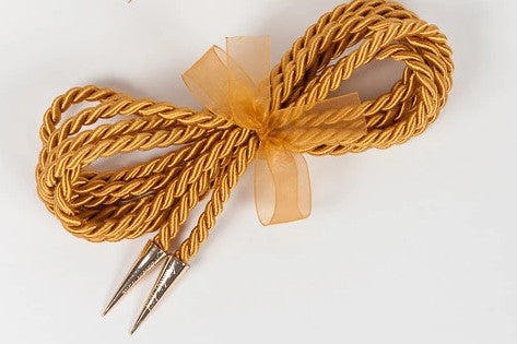 Gold Luxury Bondage Rope Lasso by Fräulein Kink - She Said Boutique - 4