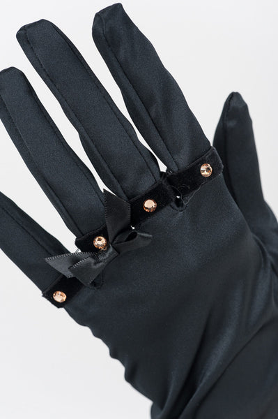 Satin & Black Patent Leather Handcuff Gloves by Fräulein Kink - She Said Boutique - 3