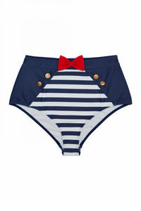 Retro Pin Up Highwaist Bikini Brief Hello Sailor!