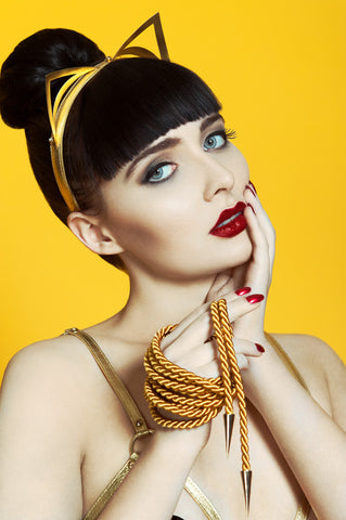 Gold Luxury Bondage Rope Lasso by Fräulein Kink - She Said Boutique - 1