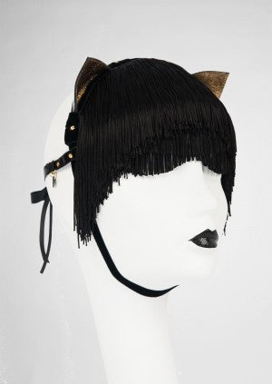 Noir Kitten Mask by Fräulein Kink - She Said Boutique - 2