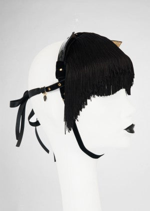 Noir Kitten Mask by Fräulein Kink - She Said Boutique - 3