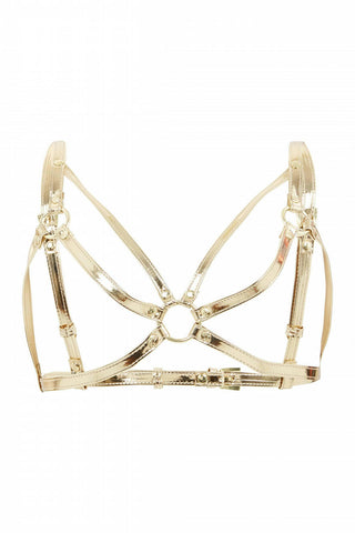 Caged Bra Harness - Gold