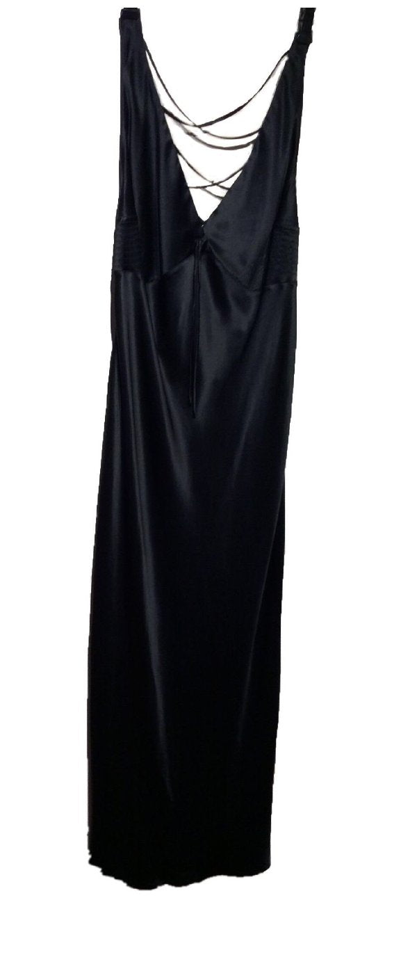 Black Full Length Pure Silk Gown by Marjolaine - Last chance to buy!