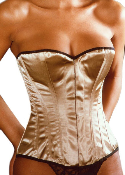 Bridal Classic Overbust Corset in White Satin