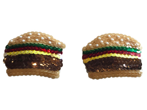Burger Sequin Nipple Pasties
