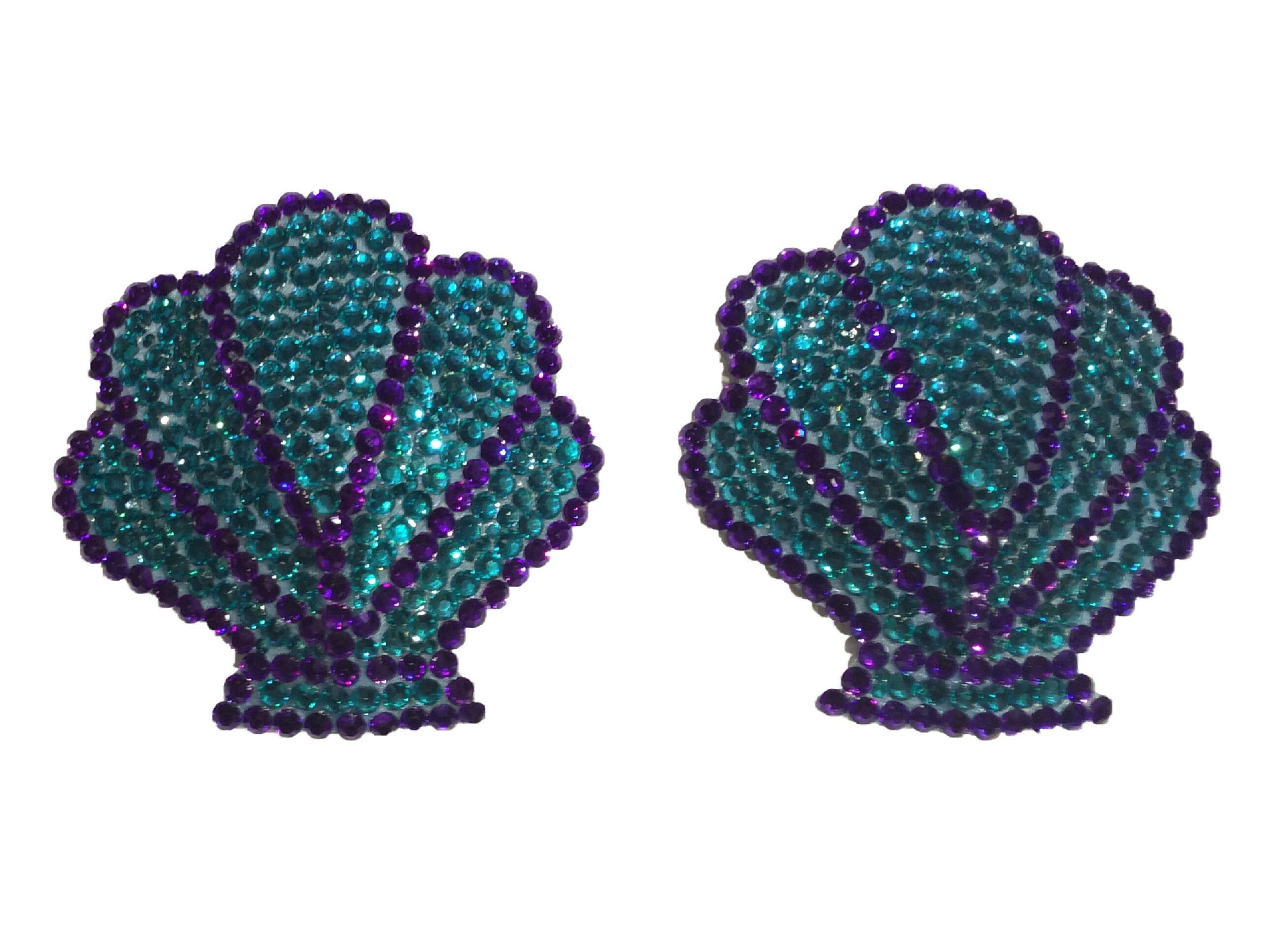 Teal and Blue Mermaid Crystal Nipple Pasties