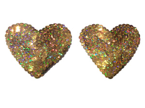 Gold Heart Sequin Pasties