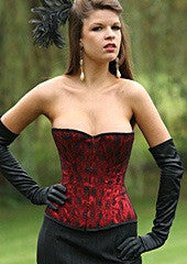 Red and Black Lace High Back Corset - She Said Boutique - 2