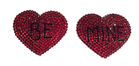 Be Mine Crystal Red Hearts