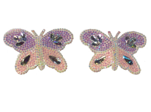 Butterfly crystal nipple pasties (pastel colour)