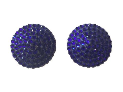 Swarovski Crystal Nipple Pasties in Midnight Blue