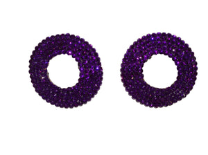 Crystal Open Nipple Pasties in Purple