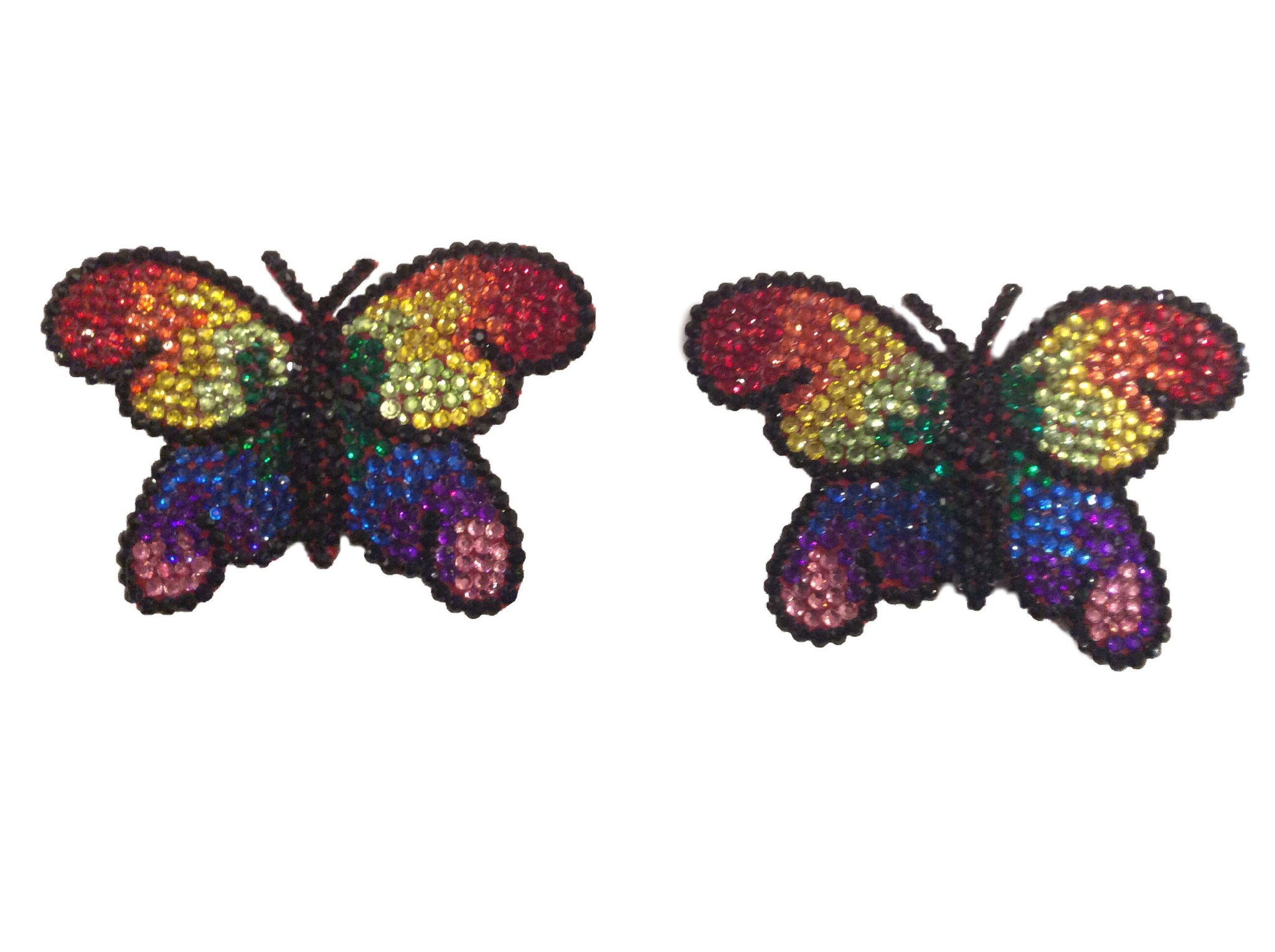 Rainbow Butterfly Crystal Nipple Pasties