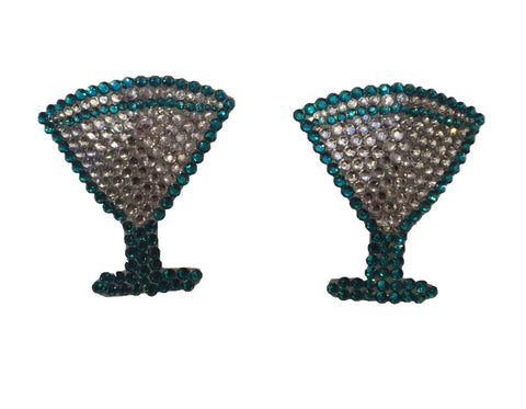 Martini Cocktail Crystal Nipple Pasties