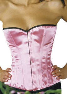 Simple Line Overbust Corset in Satin