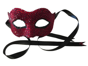 Red Crystal Masquerade Mask