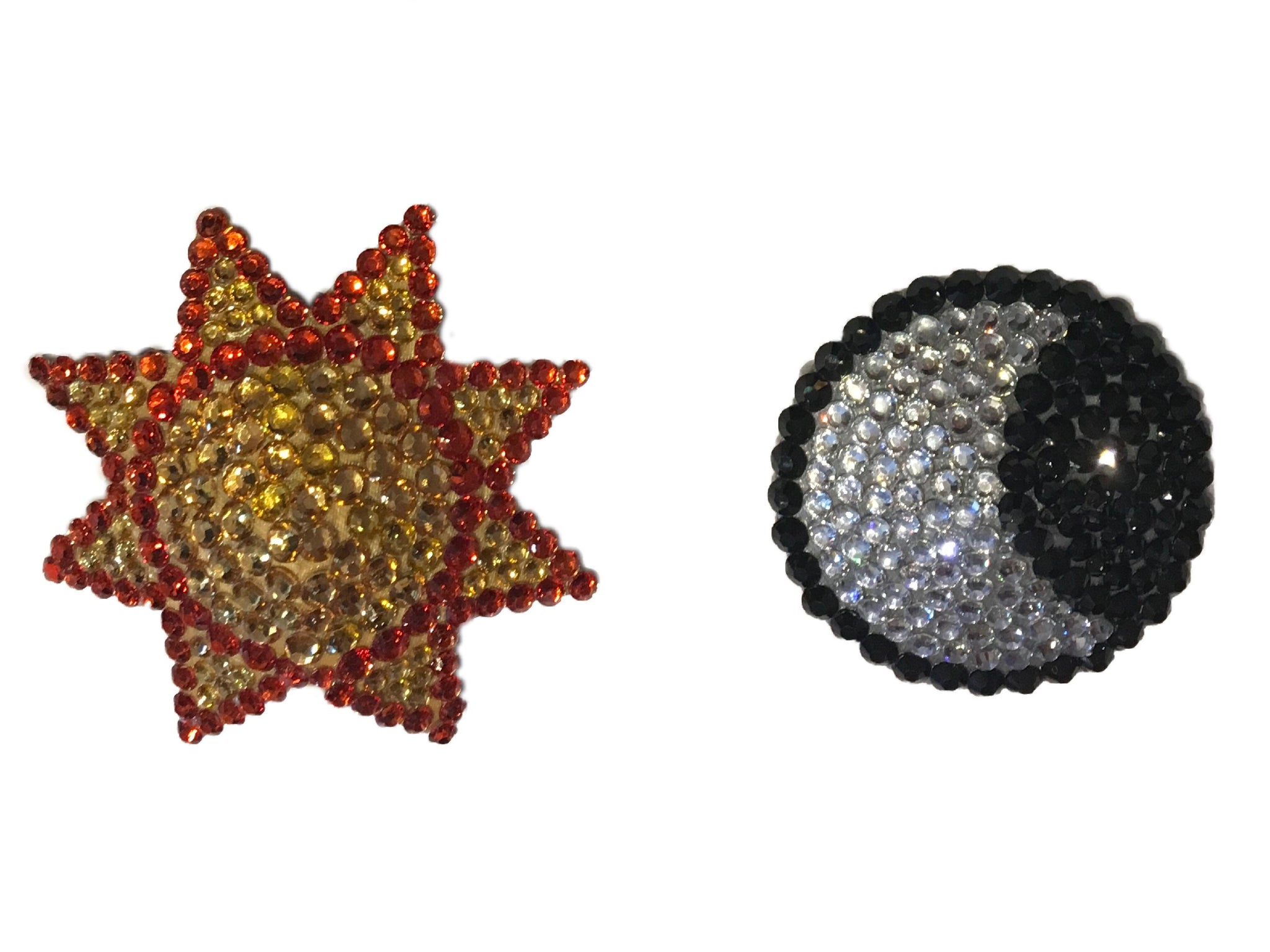 Moon and Star Crystal Nipple Pasties