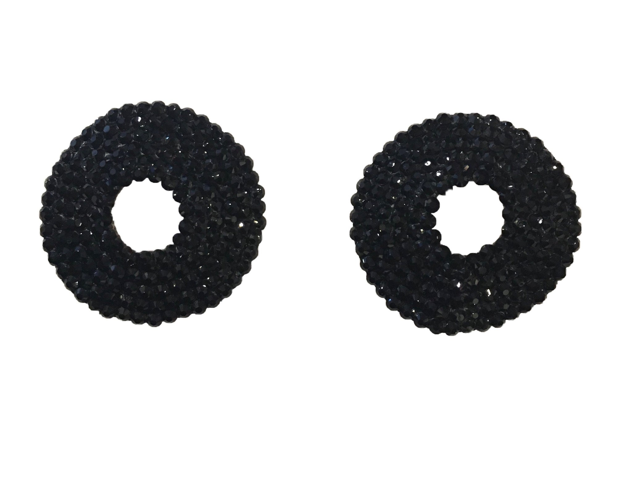 Crystal Open Nipple Pasties in Black