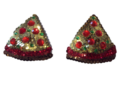 Pizza Sequin Nipple Pasties