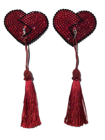 Red Crystal Broken Heart Detachable (Red Tassel)