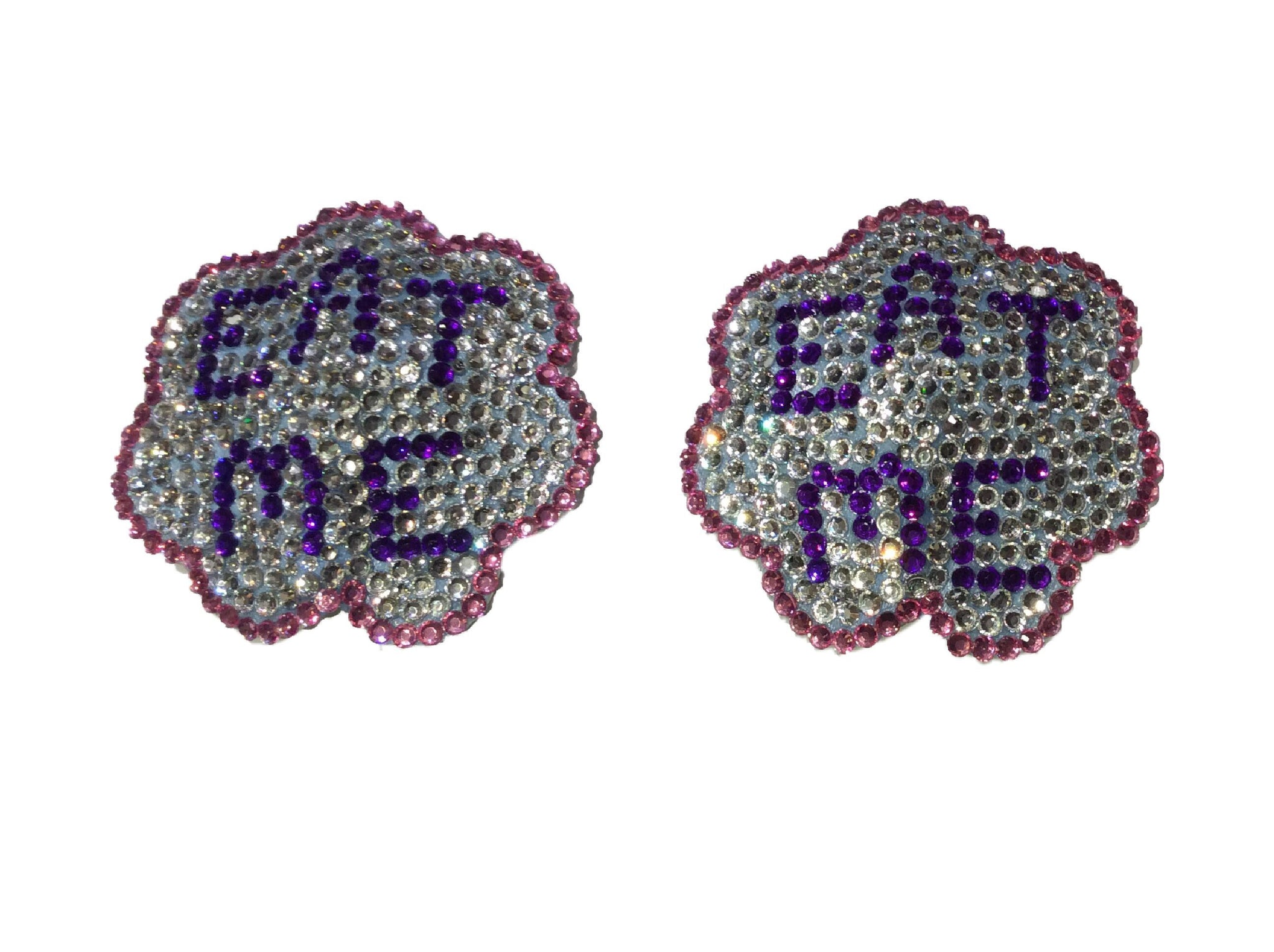 Eat Me Crystal Nipple Pasties