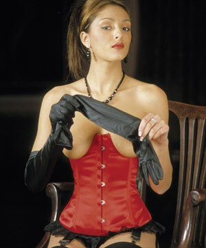 Open Cup Satin Corset - She Said Boutique - 2