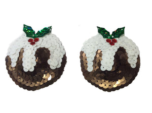 Christmas Pudding Nipple Pasties