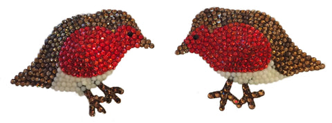 Christmas Robin Crystal Nipple Pasties