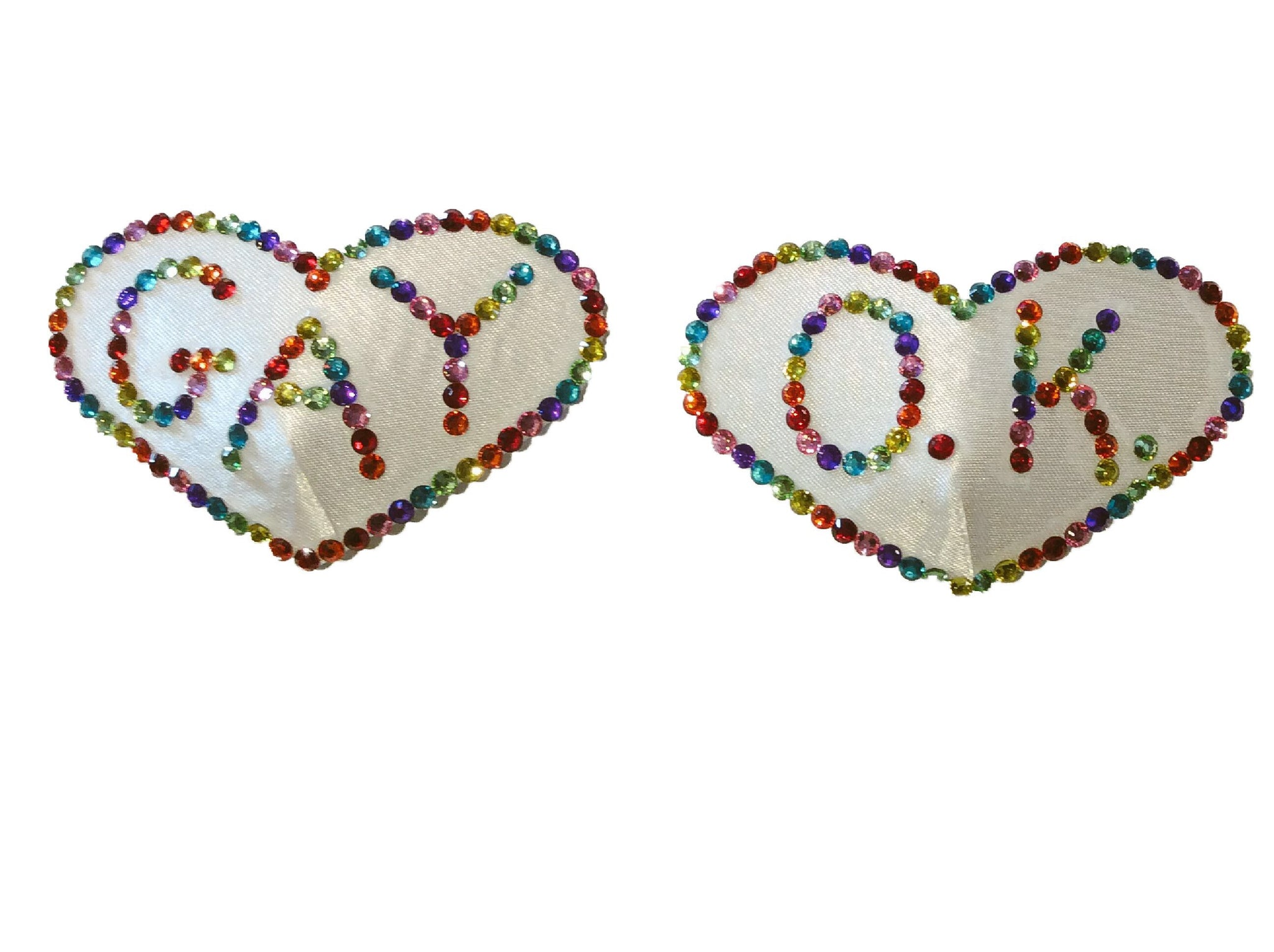 Gay O.K. Rainbow Nipple Pasties