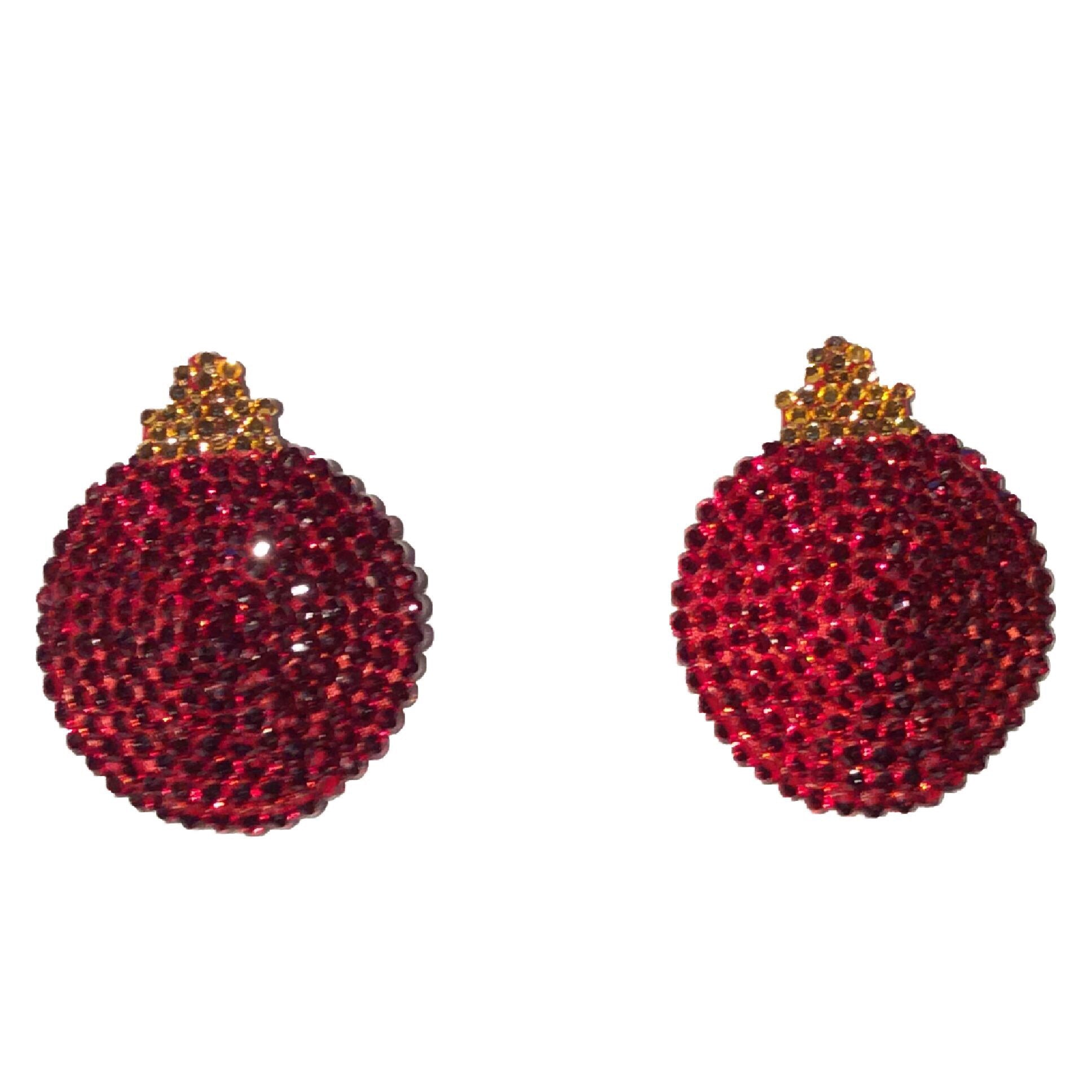 Christmas Bauble Red Nipple Pasties