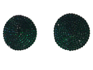 Crystal nipple pasties in emerald green