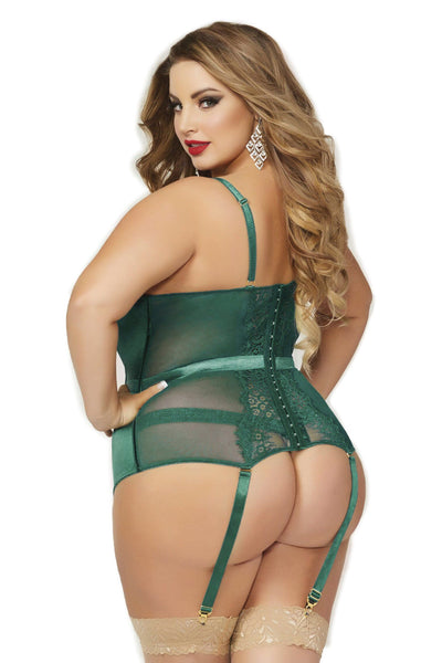 Queen Delicate Gem Jade Lace Chemise