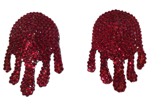 Blood Drip Crystal Nipple Pasties