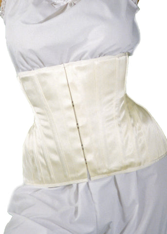 Bridal Extreme Underbust Corset in Ivory Satin