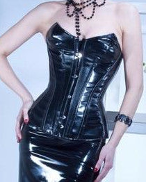 Monika Vinyl Corset - She Said Boutique - 1